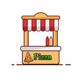 Pizza sur le fond blanc Objet d'isolement par pizza Illustration Libre de Droits