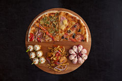 Pizza and sushi f Royalty Free Stock Photo