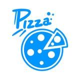 Pizza symbol. Creative design of pizza symbol Royalty Free Stock Photos