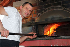 Pizza Szef kuchni Zdjęcie Stock