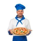 Pizza szef kuchni fotografia stock