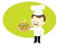 Pizza szef kuchni ilustracja wektor