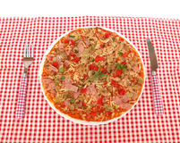Pizza on table Royalty Free Stock Images