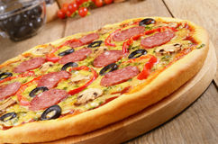 Pizza on the table Stock Photo