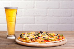Pizza on the table Stock Image