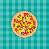 Pizza on a table Stock Photography