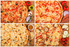 Pizza on the table Stock Images