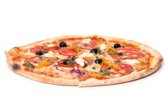 Pizza on the table Royalty Free Stock Photography