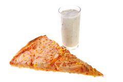 Pizza with tarator Royalty Free Stock Photography