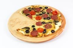 Pizza. A tasty delicios Italian pizza Royalty Free Stock Photo