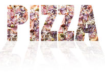 Pizza tekst Obrazy Royalty Free