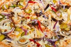 Tasty italy food. pizza bacground close up. photo for menu royalty free stock photos