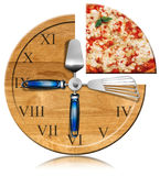 Pizza Time - Clock Stock Photos