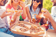 Pizza time! Royalty Free Stock Photography