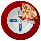 Pizza Time Concept Royalty Free Stock Photography