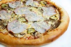 Pizza, tipos diferentes das pizzas ao menu do restaurante e pizaria Foto de Stock Royalty Free