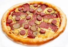 Pizza, tipos diferentes das pizzas ao menu do restaurante e pizaria Imagem de Stock Royalty Free