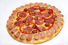 Pizza, tipos diferentes das pizzas ao menu do restaurante e pizaria Fotos de Stock Royalty Free