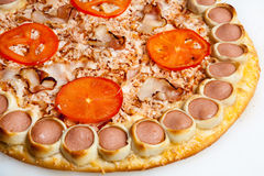 Pizza, tipos diferentes das pizzas ao menu do restaurante e pizaria Imagens de Stock