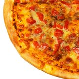 Pizza with tomato isolated Royalty Free Stock Images