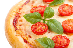 Pizza with tomatoes tasty and flavorful Stock Photography