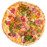 Pizza from top Stock Photo