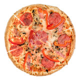 Pizza from top Stock Photography