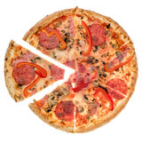 Pizza from top Royalty Free Stock Photo