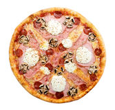 Pizza from the top Stock Image