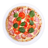 Pizza top view Stock Photos