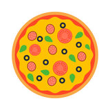 Pizza top view vector Royalty Free Stock Photo
