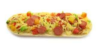 Pizza Topped Bruschetta Baguette Sandwich Stock Photography
