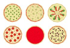 Pizza with toppings 1 Stock Image