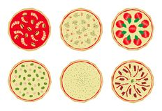 Pizza with toppings 2 Stock Image