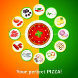 Pizza toppings Stock Images