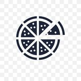 Pizza transparent icon. Pizza symbol design from Restaurant coll vector illustration