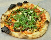 Pizza Truffled sicilienne Image stock