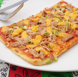 Pizza with tuna fish Stock Image