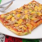Pizza with tuna fish Stock Image