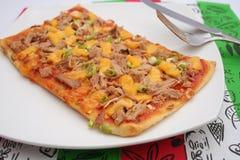Pizza with tuna fish Stock Photos