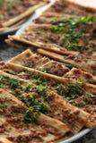 Pizza turca Fotos de archivo