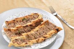 Pizza turca Fotografie Stock Libere da Diritti