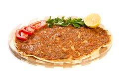 Pizza turca Immagini Stock