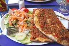 Pizza turca Fotos de archivo libres de regalías