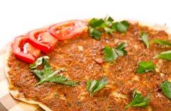 Pizza turca Fotografia Stock Libera da Diritti