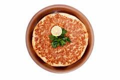 Pizza turca Lahmacun Imagem de Stock Royalty Free
