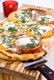 pizza två Fotografering för Bildbyråer