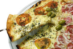 Pizza - Umhüllung Stockbilder