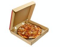 Pizza in una casella asportabile fotografia stock libera da diritti