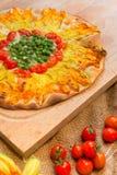 Pizza végétarienne Image libre de droits